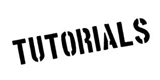 Tutorials rubber stamp Stock Photography