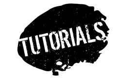 Tutorials rubber stamp Royalty Free Stock Photos