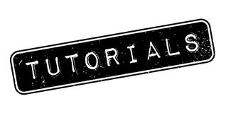 Tutorials rubber stamp Royalty Free Stock Photo