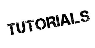 Tutorials rubber stamp Royalty Free Stock Image