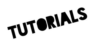 Tutorials rubber stamp Stock Images