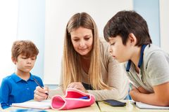 Tutoring lessons for elementary students stock photography