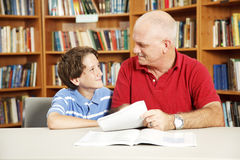 Tutoring in the Library stock image