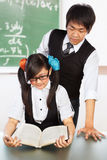 Tutoring nerd student Royalty Free Stock Photo