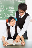 Tutoring nerd student Stock Photos