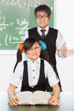 Tutoring nerd student Royalty Free Stock Image