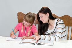 Tutoring2 Foto de Stock Royalty Free
