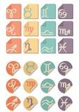 Tutta l'icona di simbolo dello zodiaco Fotografie Stock Libere da Diritti