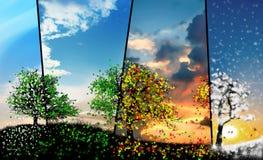 Tutta l'illustrazione di concetto di stagioni Fotografie Stock