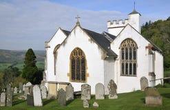 Tutta la chiesa dei san, Selworthy Fotografia Stock