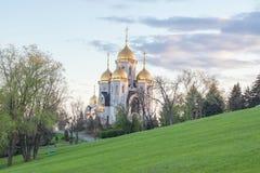 Tutta la chiesa dei san su Mamayev Kurgan Fotografia Stock