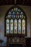 Tutta la chiesa dei san in vetro macchiato di Langport sopra l'altare Immagine Stock Libera da Diritti