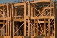 Tutta la costruzione del legno Immagini Stock