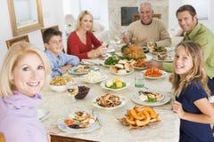tutta la famiglia del pranzo di natale insieme Fotografie Stock Libere da Diritti