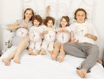 Tutta la famiglia insieme Fotografia Stock Libera da Diritti