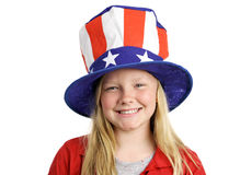 Tutta la ragazza americana Immagini Stock