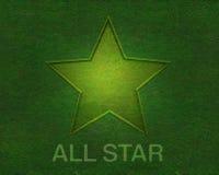 Tutta la stella su struttura dell'erba verde Fotografia Stock
