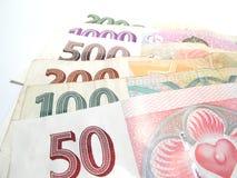 Tutte le banconote ceche Fotografie Stock
