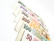 Tutte le banconote ceche Immagine Stock