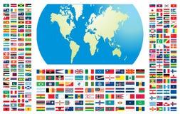 Tutte le bandierine del mondo Immagine Stock Libera da Diritti