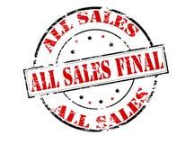 Tutte le vendite finali Fotografia Stock