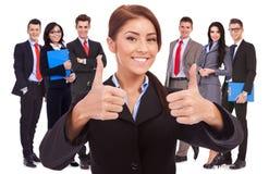 Tutti buoni con la mia squadra di affari! Fotografie Stock Libere da Diritti