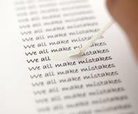 Tutti facciamo gli errori 2 Immagini Stock