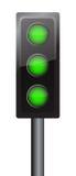 Tutti gli indicatori luminosi nel verde Immagine Stock Libera da Diritti