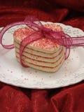 Tutti hanno legato in su i biscotti di zucchero del cuore Fotografia Stock