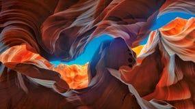 Tutti i colori del canyon dell'antilope Fotografie Stock Libere da Diritti
