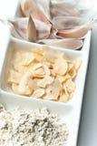 Tutti i generi di aglio Fotografie Stock