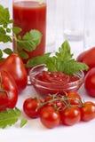 Tutti i generi di pomodori Immagini Stock