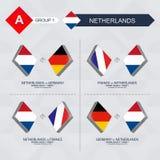 Tutti i giochi dei Paesi Bassi nella lega di nazioni di calcio illustrazione vettoriale