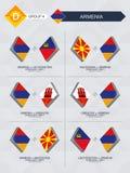 Tutti i giochi dell'Armenia nella lega di nazioni di calcio illustrazione di stock