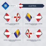 Tutti i giochi dell'Austria nella lega di nazioni di calcio illustrazione vettoriale