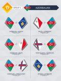 Tutti i giochi dell'Azerbaigian nella lega di nazioni di calcio royalty illustrazione gratis