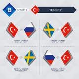 Tutti i giochi della Turchia nella lega di nazioni di calcio illustrazione di stock