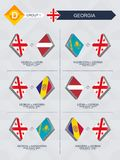 Tutti i giochi di Georgia nella lega di nazioni di calcio illustrazione vettoriale