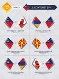 Tutti i giochi di Gibilterra nella lega di nazioni di calcio illustrazione di stock