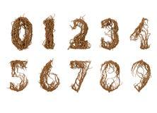 Tutti i numeri costruiti dai piccoli rami Fotografie Stock Libere da Diritti