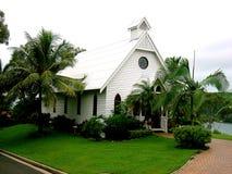 Tutti i san chiesa, isola di Hamilton Immagine Stock