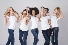 Tutti i tipi dei capelli Fotografia Stock Libera da Diritti