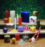 Tutti i tipi di candele Fotografie Stock Libere da Diritti