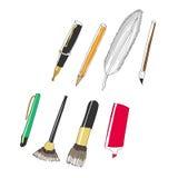 Tutti i tipi di penna Fotografia Stock Libera da Diritti