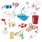 Tutti i tipi di roba di viaggio Immagine Stock Libera da Diritti