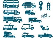Tutti i tipi di trasporti della città Fotografia Stock Libera da Diritti