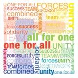 Tutti per un uno per tutti Immagine Stock