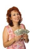 Tutti sono felici ai dollari Immagine Stock Libera da Diritti