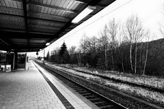 Tuttlingen Train Station Royalty Free Stock Images