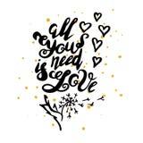 Tutto che abbiate bisogno di è amore Immagine Stock